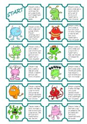 English Worksheet: Monsters Dominoes (body parts)
