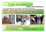 English Worksheet: Time to talk (13) - Crime and criminals