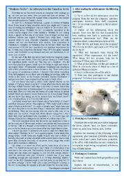 English Worksheet: Students on Ice - An Adventure to the Canadian Arctic