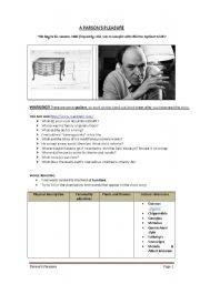 English Worksheets: PARSON�S PLEASURE
