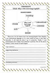 Printables Esl Writing Worksheets english teaching worksheets paragraphs writing a paragraph level 2