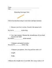 English Worksheets: Measuring Life Skills Lesson