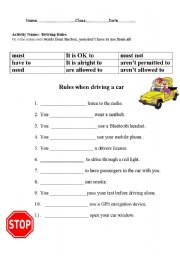 Collection Of Driving Worksheets Bluegreenish