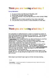 English Worksheets: You think you�re having a bad day?
