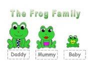 English Worksheet: The Frog Family for young learners