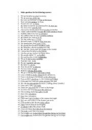English Worksheets: Make Questions