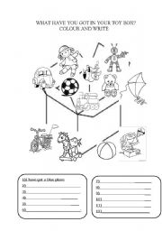 English Worksheet: WHAT HAVE YOU GOT IN YOUR TOY BOX?