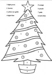 Worksheet. English teaching worksheets Christmas tree