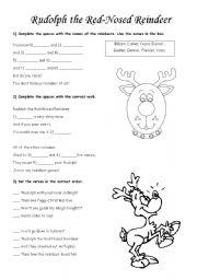 English Worksheet: Rudolph