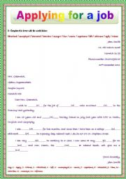 Job Application Letter Vocabulary