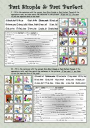 Simple past and past perfect tense * fully editable * with key
