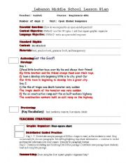 English Worksheets: lesson 1