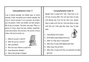English Worksheets: Comprehension Set 5