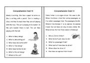 English Worksheets: Comprehension Set 6