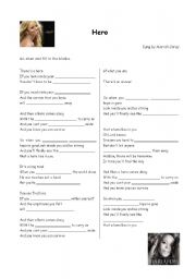 English Worksheet: Hero (Mariah Carey)