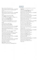 English Worksheets: Paradise City by Guns ´n Roses