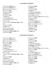 English Worksheets: Scar Tissue by Red Hot Chili Peppers