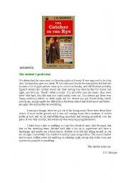 English Worksheets: Reading Comprehension (Advanced level)