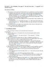 English Worksheet: The Fifth Child (The Institution, page 78 to page 85)