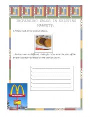 English Worksheets: Increasing sales in existing markets