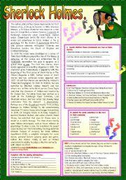 English Worksheet: SHERLOCK HOLMES.