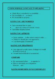 English Worksheet: FUNCTIONAL LANGUAGE FOR C2 LEVEL