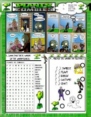 English Worksheet: PLANTS VS ZOMBIES 1