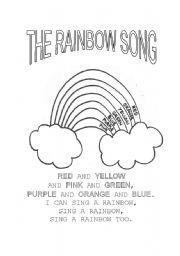 English Worksheet: The Rainbow Song