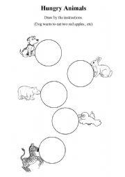 English Worksheets: Hungry Animals