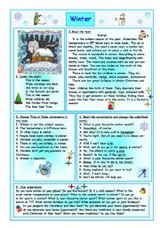 English Worksheet: Winter