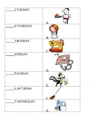 English Worksheets: day of the week