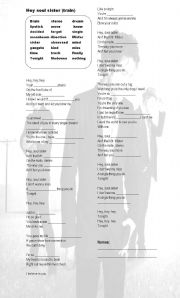English Worksheet: hey soul sister listening