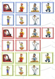 English Worksheets: occupations cards