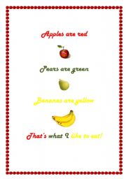 English Worksheets: Apples are red