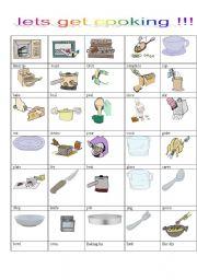 English Worksheet: let�s get cooking