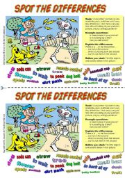 English Worksheet: Spot the differences (4). Dog and Robot