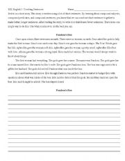 English Worksheets: Combining Simple Sentences