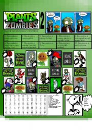 English Worksheet: PLANTS VS ZOMBIES 2