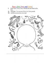English Worksheets: Face Creation