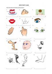 English Worksheets: Body  parts exercise
