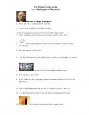 English Worksheets: The President�s Viseo Series