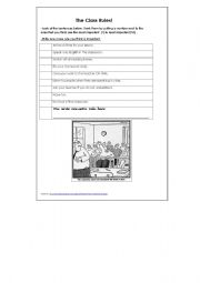 English Worksheets: The class rules for older students