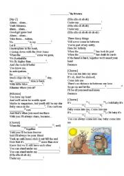 English Worksheet: Teaching weather words with the song by Riahnna: Umbrella