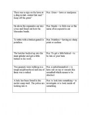English Worksheets: jokes puns double meanings