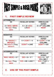 ROSA PARKS AND PAST SIMPLE * REVIEW OF THE PAST SIMPLE * EXERCISES * LISTENING COMPREHENSION* KEY FOR TEACHER INCLUDED