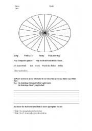 English Worksheets: what I do in a day