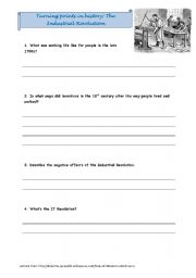 English Worksheet: Industrial Revolution while-watching questions for film on youtube