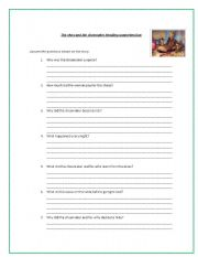 English Worksheets: the elves and the shoemaker