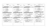 English worksheet: Short test