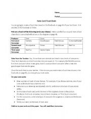 English Worksheet: Notecard Food Chain Activity